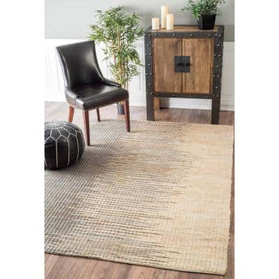 Stitch Flame Jute Gray 4 ft. x 6 ft.  Area Rug
