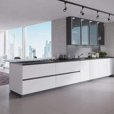 Ivory Granite Quartz 33 in. Single Bowl Undermount Kitchen Sink Kit