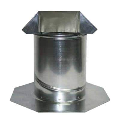8 in. Adjustable Pitch Galvanized Steel Pipe Flashing