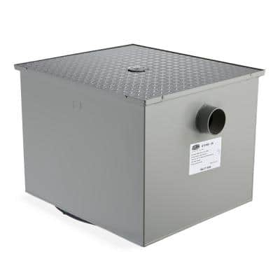 40 in. x 16 in. Low-Profile Grease Trap with 3 in. NH Connection