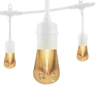 6-Bulb 12 ft. Vintage Cafe Integrated LED String Lights, White