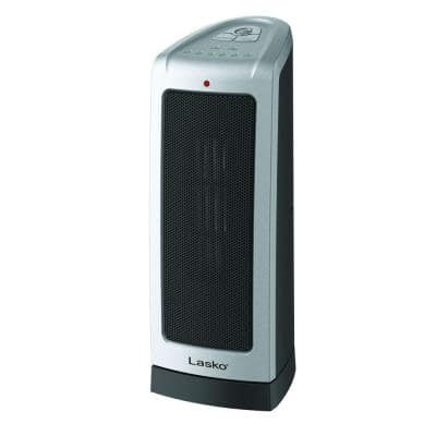"Desk Tower 1500-Watt Electric 16"" Ceramic Oscillating Space Heater"