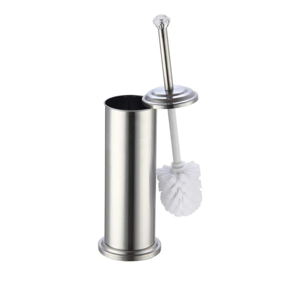 Home Basics Diamond Top Stainless Steel Toilet Brush Holder Tb41030 The Home Depot
