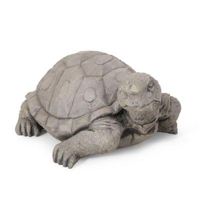 Orwell 15 in. Outdoor Turtle Garden Statue