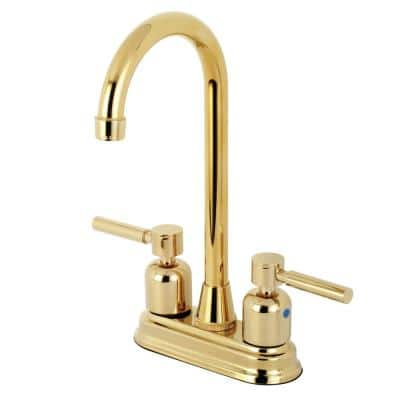 Concord 2-Handle Bar Faucet in Polished Brass