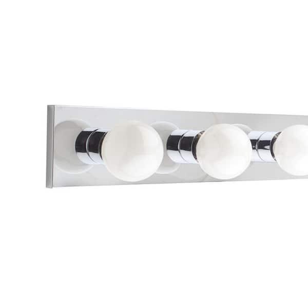 Luminance - Hollywood 8-Light Polished Chrome Vanity Light