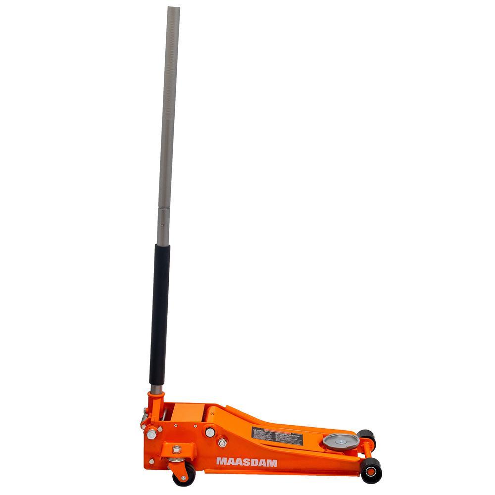 3-Ton Low Profile Floor Jack with Speedy Lift in Orange