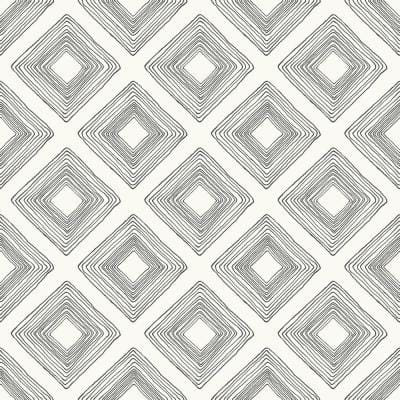 Diamond Sketch Geometric Paper Pre-Pasted Strippable Wallpaper Roll (Covers 56 Sq. Ft.)