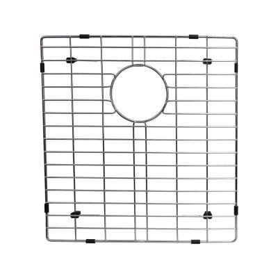 14.25 in. x 17 in. Kitchen Sink Bottom Grid in Stainless Steel