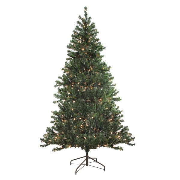 Northlight 84 In Pre Lit Balsam Pine Artificial Christmas Tree With Clear Lights 32913331 The Home Depot