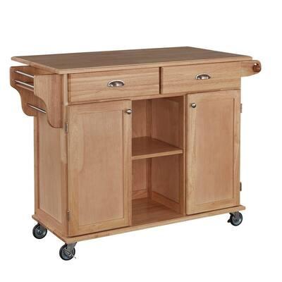 Napa Natural Kitchen Cart with Storage