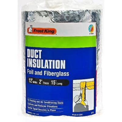 12 in. x 15 ft. Foil and Fiberglass Duct Insulation