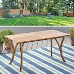 Teak Rectangular Wood Outdoor Dining Table