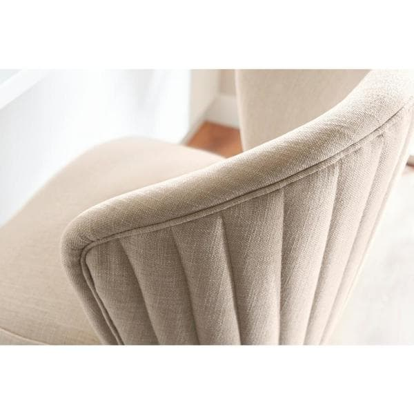 Home Decorators Collection Ingram Upholstered Swivel Counter Stool With Barrel Back And Biscuit Beige Seat 23 In W X 40 In H 4115 26 Biscuit The Home Depot