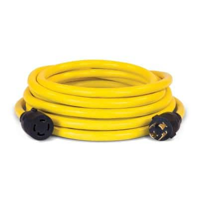 25 ft. NEMA L14-30P to L14-30R Generator Cord in Yellow