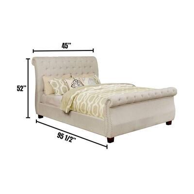 Emanuela in Beige Twin Bed