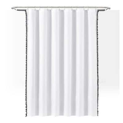 Black Shower Curtains Shower Accessories The Home Depot