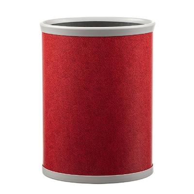 13 qt. Rocks Red Oval Waste Basket