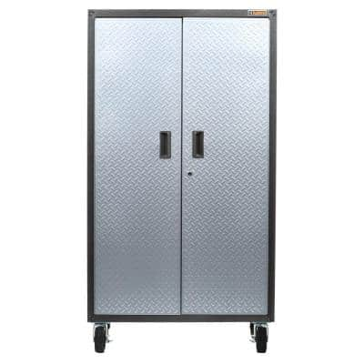 Ready-to-Assemble Steel Freestanding Garage Cabinet in Hammered Granite with Casters (36 in. W x 66 in. H x 18 in. D)