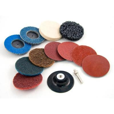 2 in. Twist-Lock Surface Conditioning Kit (12-Piece)