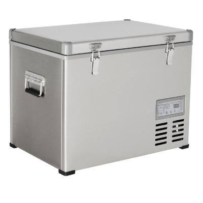 1.6 cu. ft. 47 qt. Portable Refrigerator/Freezer Stainless Steel