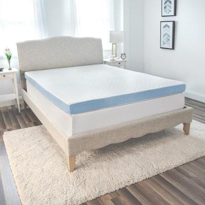 4-Inch Supreme Gel Cooling Transcend Memory Foam Bed Topper 4 in. Medium No Pocket Memory Foam King Mattress Topper