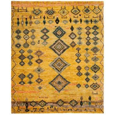 Tangier Gold 8 ft. x 10 ft. Geometric Area Rug