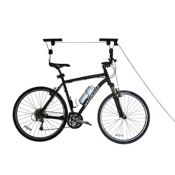 Bicycle Hoist Ceiling Mount 50 lb heavy duty locking bike lift Garage Storage