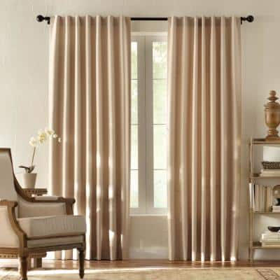 Taupe Solid Thermal Back Tab Room Darkening Curtain - 42 in. W x 108 in. L