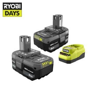 ONE+ 18V Lithium-Ion 4.0 Ah Battery (2-Pack) and Charger Kit
