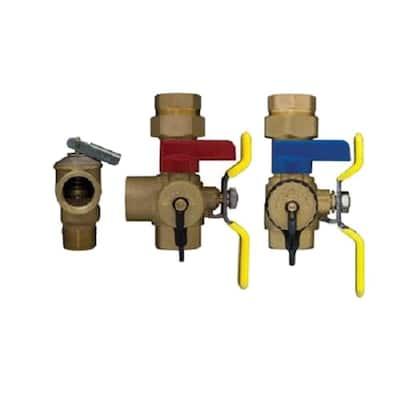 3/4 in. Tankless Water Heater Valve Set - Lead Free