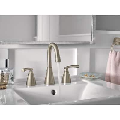 Essie 8 in. Widespread 2-Handle Bathroom Faucet in Spot Resist Brushed Nickel