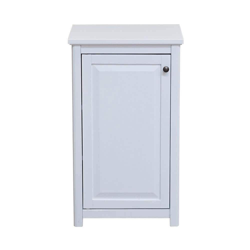 Alaterre Furniture Dorset 17 In W X 29 In H Freestanding Floor Bath Storage Cabinet With Door In White Anva77wh The Home Depot