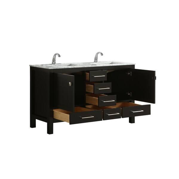 Transitional Espresso Bathroom Vanity, Bathroom Vanity 48 X 18