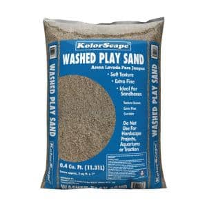 0.4 cu. ft. Washed Play Sand
