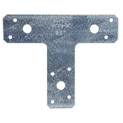 6 in. x 5 in. 14-Gauge Galvanized T Strap