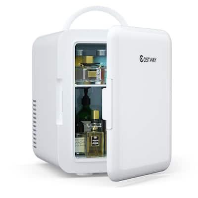 0.14 cu. ft. Retro Mini Fridge in White with Freezer