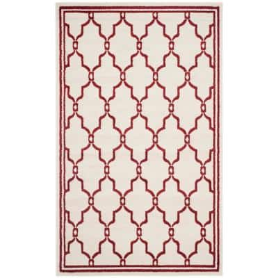 Amherst Ivory/Red 5 ft. x 8 ft. Area Rug