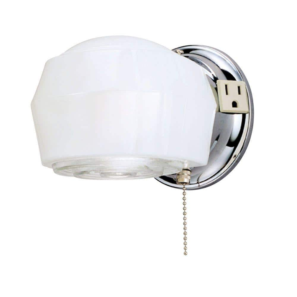 Westinghouse 1 Light Chrome Interior Wall Fixture 6640200 The Home Depot