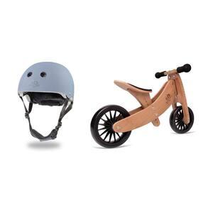 Slate Blue Toddler Kids Helmet Bundle with Balance Bike Tricycle