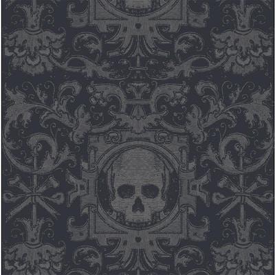 Black Fabric Peel & Stick Moisture Resistant Wallpaper Roll (Covers 36Sq. Ft.)
