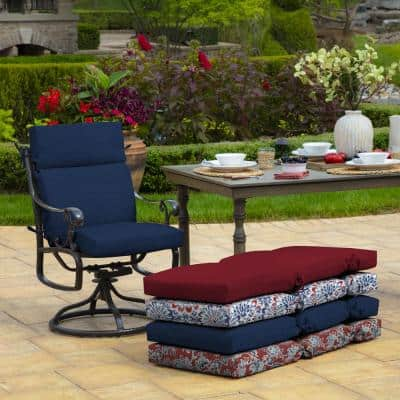 21 x 44 Sapphire Leala Texture Outdoor Dining Chair Cushion
