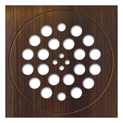Redi Drain 5.75 in. x 5.75 in. 2-Piece Drain Plate Set in Oil Rubbed Bronze