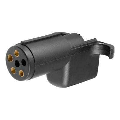 Electrical Adapter (6-Way Round Vehicle to 4-Way Flat Trailer)