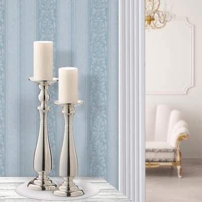 Silver Wedding Candle Holder (Set of 2)