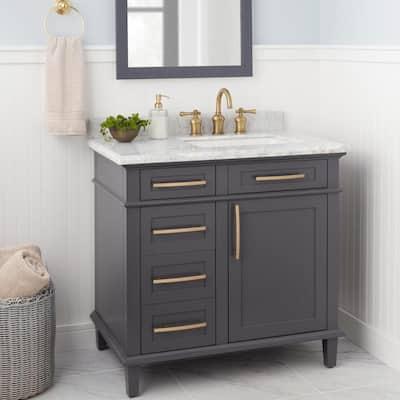 Verdanza 8 in. Widespread 2-Handle High-Arc Bathroom Faucet in Antique Brass