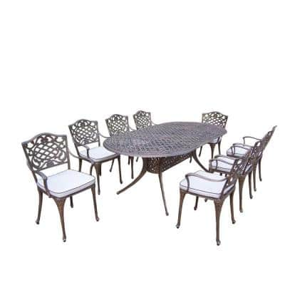Mississippi 9-Piece Oval Patio Dining Set with Cushions