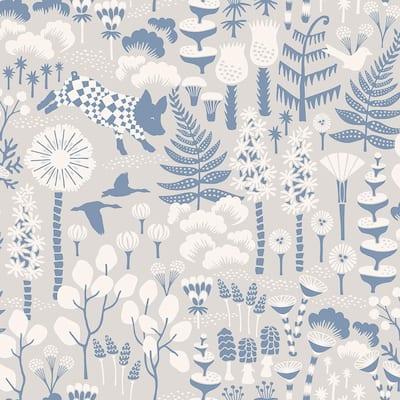 Hoppet Grey Folk Paper Strippable Roll Wallpaper (Covers 57.8 sq. ft.)