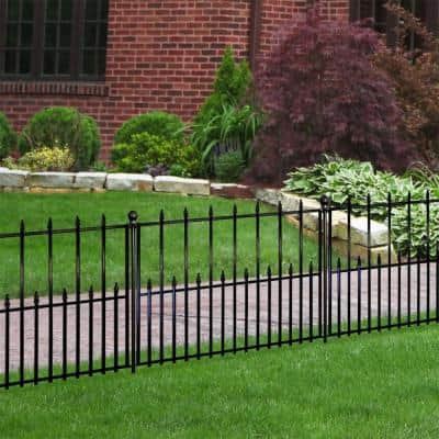 Empire/Westbrook 41 in. x 2.3 in. x 2.3 in. Black Steel Fence Post