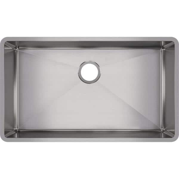 Elkay Crosstown Undermount Stainless Steel 32 In Single Bowl Kitchen Sink With Center Drain Hdu32189f The Home Depot
